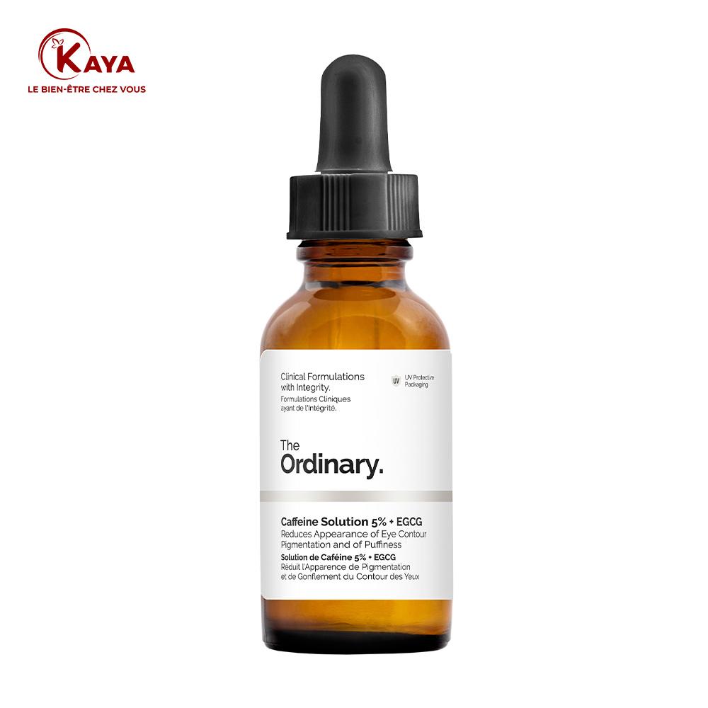 Solution caféine anti cernes et contour des yeux 5%+EGCG chez KAYA